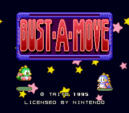 [BUST-A-MOVE TITLE SCREEN]