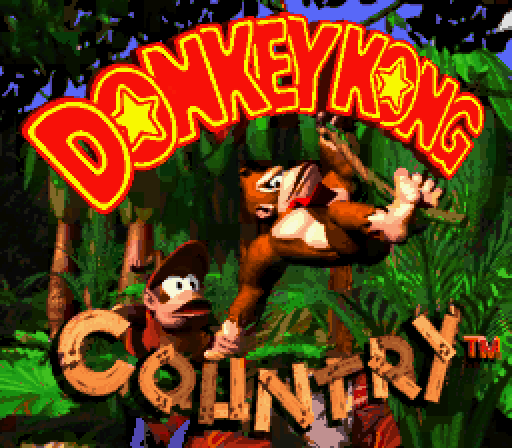 [Donkey Kong Country Title Screen]