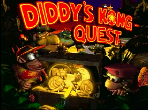 [The DKC 2 Title Screen!]