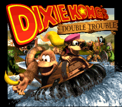 [DKC 3 Title Screen]