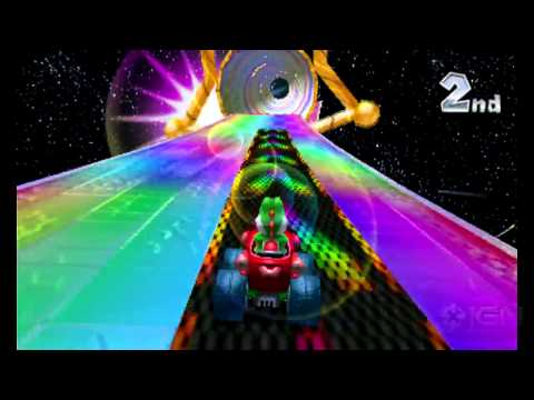[Two Rainbow Road tracks in one Mario Kart game? I love it! (although many Mario Kart fans are probably shivering at that thought!)]