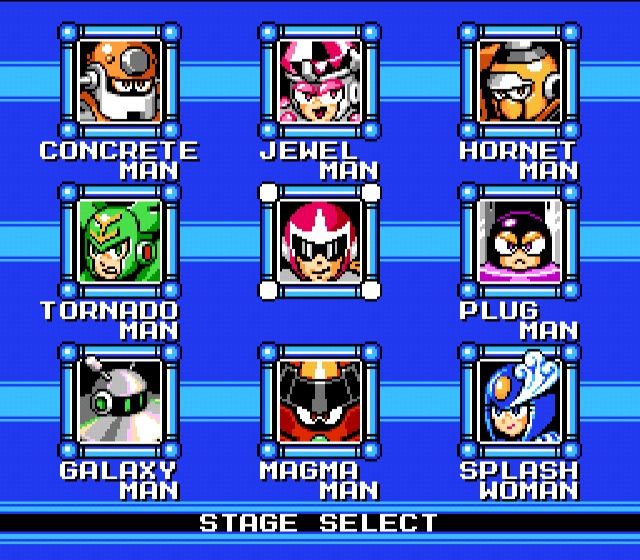 [WHICH ROBOT MASTER WILL IT BE? AND YES...MEGA MAN'S BROTHER PROTOMAN IS INDEED PLAYABLE IN MM9!]