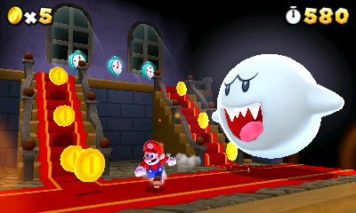[What would a Mario game be without the Big Boo?]