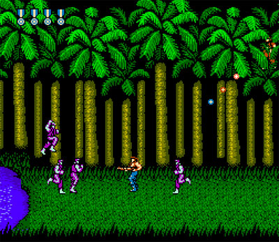 [Possibly the coolest jungle level on the NES!]